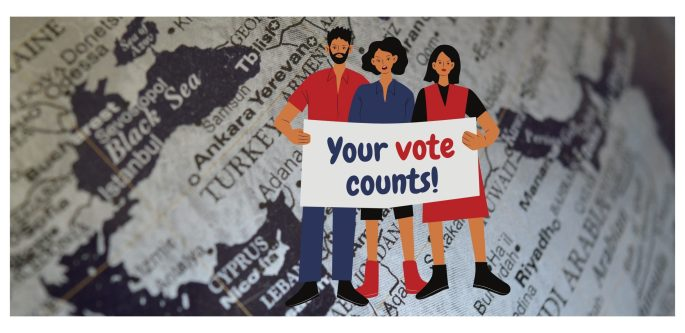 Your vote counts! banner
