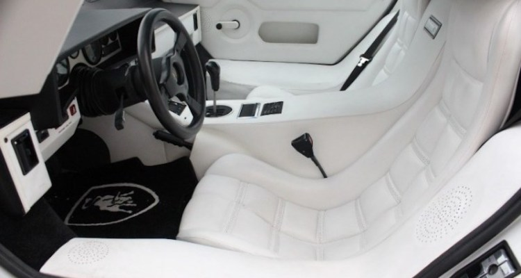 Only A Lamborghini Countach Can Shoulder A White Leather Interior