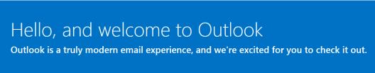 Bienvenido a Outlook