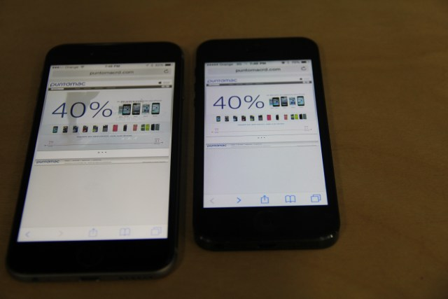 iPhone 6 vs iPhone 5