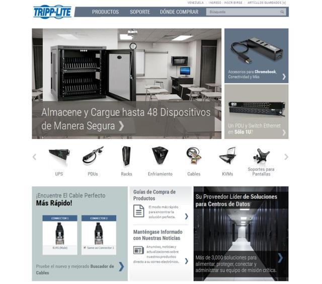 Tripp Lite - Sitio Web Renovado