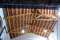 El sostre, acabat de restaurar, recupera la teula plana original