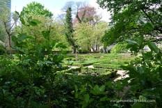 Preciós jardí darrera del museu de la ciutat