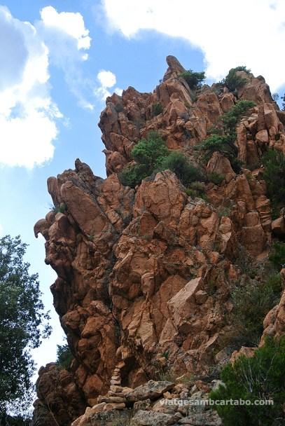 Les calanches detall roca