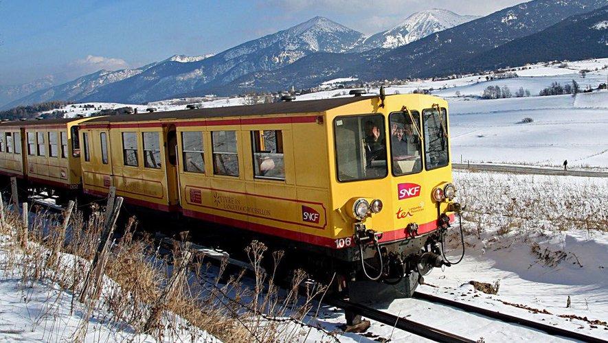 Tren Amarillo en Invierno