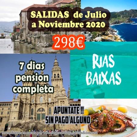 Rias Baixas 7 días Pensión completa y excursiones incluidas desde 298€