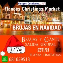 Mercado Navideño de Brujas - Gante y Bruselas