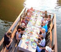 Weinfloss Italienische Momente auf dem Neckar