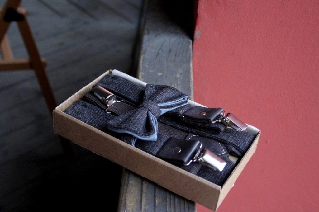 Подтяжки мужские с галстуком-бабочкой, из твида. Дизайнерские подтяжки для брюк, коричневые.