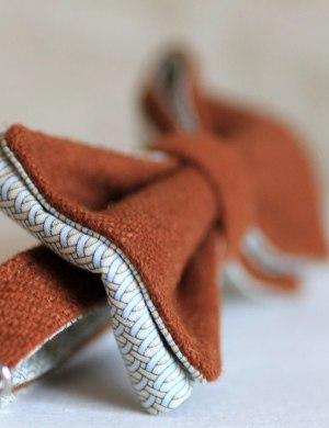 Галстук-бабочка терракотовый