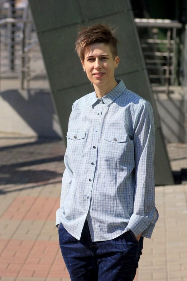 Рубашка женская в клетку ViaVestis