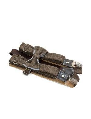 Подтяжки и галстук-бабочка из твида ViaVestis