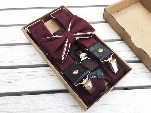 подтяжки мужские бордовые, suspenders, viavestis