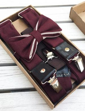 Подтяжки с галстуком-бабочкой