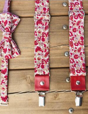 Дизайнерские подтяжки из хлопка и галстук-бабочка