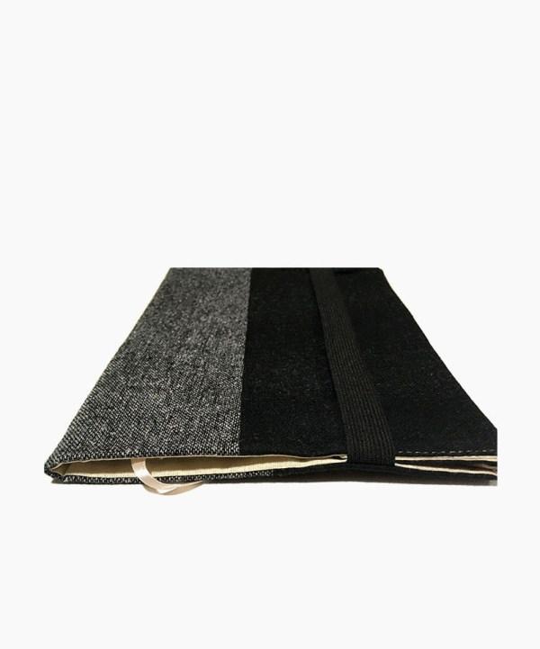 Обложка для книги текстильная черный твид с серым ViaVestis