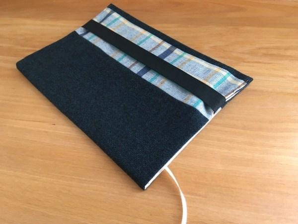 Обложка для книги и ежедневника текстильная, цвет синий