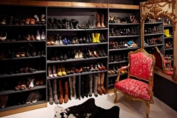 Jane Aldridge shoe closet