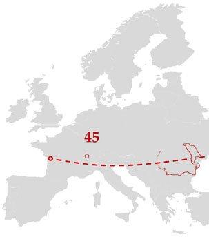 Die ausgezeichnete geografische Lage von Moldawien