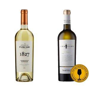 Moldawische Weinverkostungspaket: Chardonnay de Purcari von Chateau Purcari und Individo Traminer & Sauvignon Blanc von Chateau Vartely
