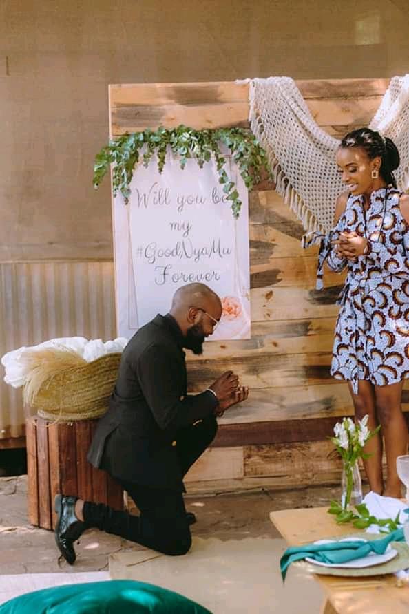 Moji Shortbaba proposes to Nyawira Gachungi