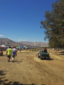 dust roads at Coachella campground