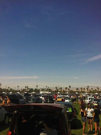 Car Camping at Coachella Entry queue