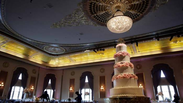 All the sparkle and glitter at Palais Royale Wedding for Casey + Michelle.