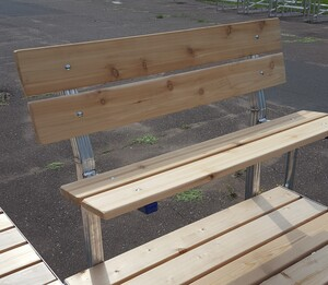 vibo marine cedar bench no arms 2