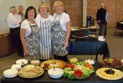 Connie Chin, Brenda Lipomi, and Gayle Madsen (Crew Chief): Providing the exceptional food presentation!