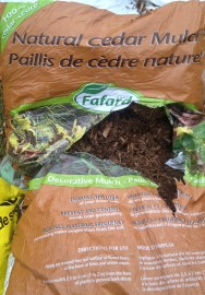 Cedar wood chips we have used to protect roses in our garden.