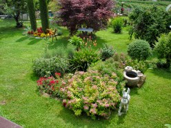 A beautiful garden in Spiazzi, Italy.