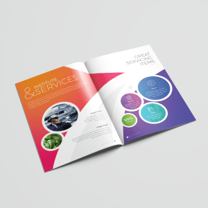 16 Pages Colorful Elegant Brochure Template