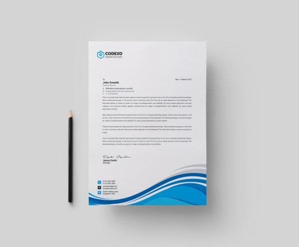 High Quality Modern Corporate Letterhead Template