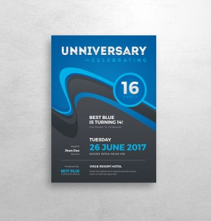 Stylish Anniversary Invitation Template