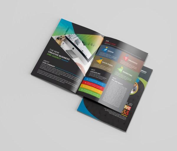 Premium Business Bi-Fold Brochure Design