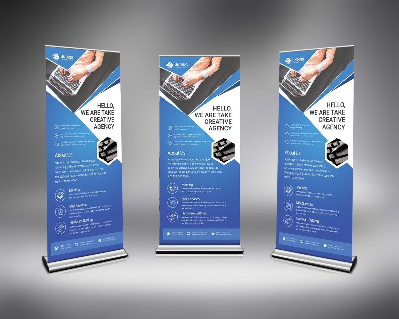 PSD Modern Roll Up Banner
