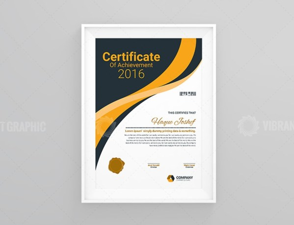 Performance Certificate Template Design