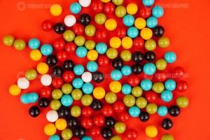 Chocolate coated Peanuts stock image