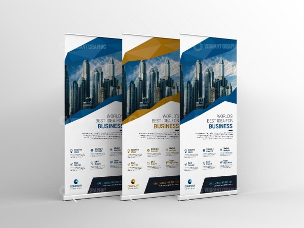 Vector Roll-Up Banner Template