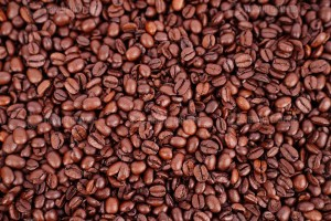 Shiny coffee beans stock photo