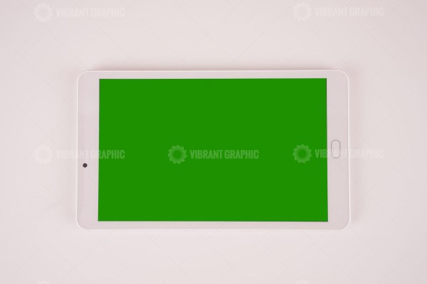 White tablet pc stock photo