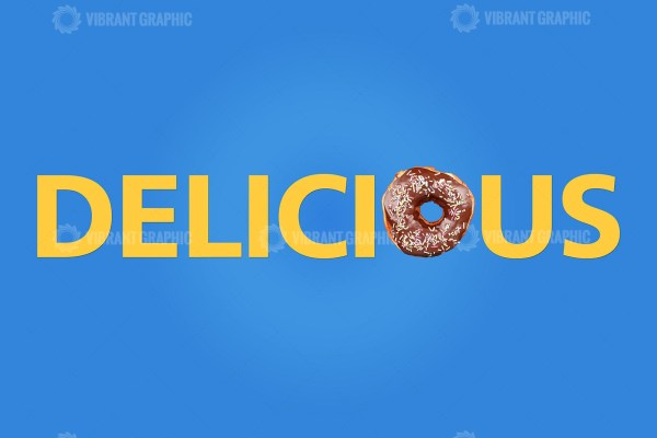 Word Delicious made with donut
