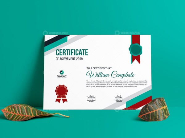 Creative Completion Certificate Template