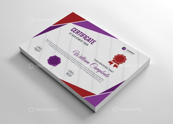 Recognition Certificate Template
