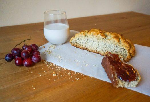 Gluten Free Irish Soda Bread Cut in Half