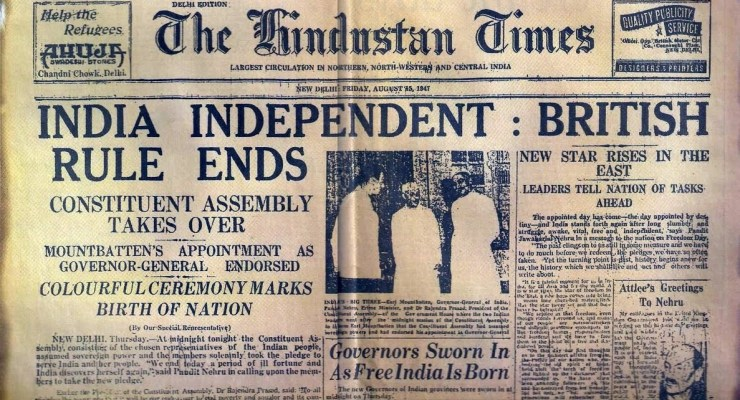 June 30th… India's Independence Day?