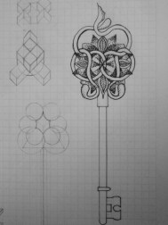 Antique key Tatto Design by Gerardo Garduño