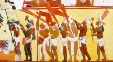 Fragmento: Mural de Bonampak, Chiapas, México. (Muro norte. cuarto 3)
