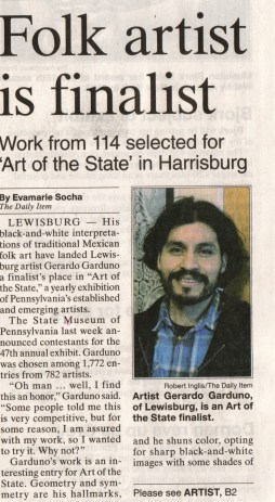 The Daily Item2 Jun 19: 2014 Art of the State: Pennsylvania 2014. At The State Museum of Pennsylvania.